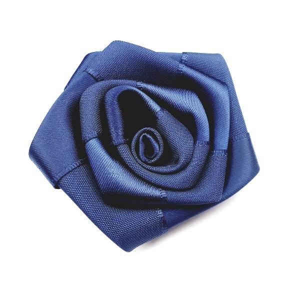 Satin-Rose- dunkelblau - 6 cm