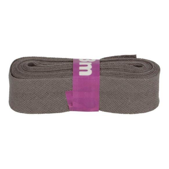 Baumwoll Einfassband - 12mm - grau - 3m