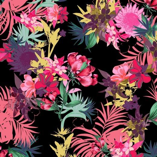 Aloha Sommer - schwarz - BW-Jersey