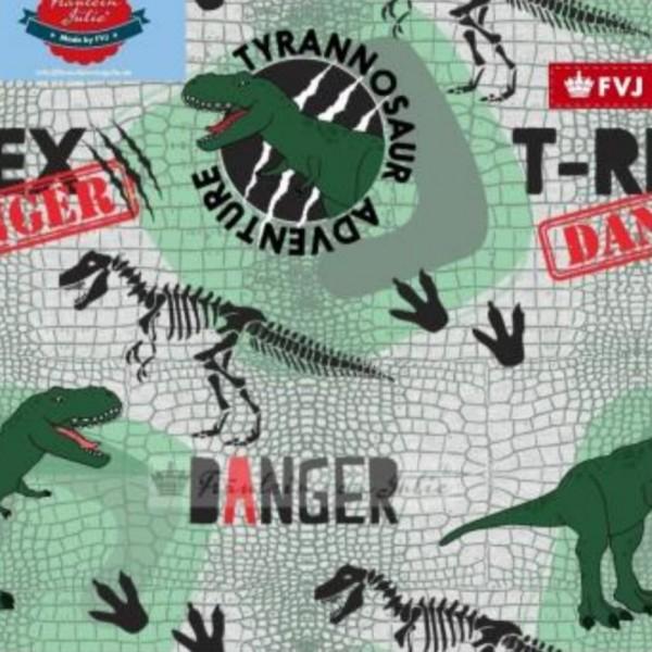 Fräulein von Julie - Tyrannosaur Adventure - grau - French Terry
