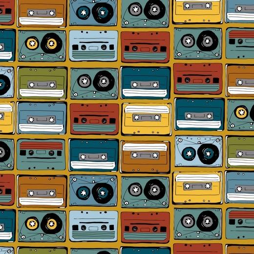 coole Music Tapes - ocker - BW-Jersey
