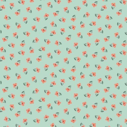 Flower - Streublume - mint - Popeline GOTS