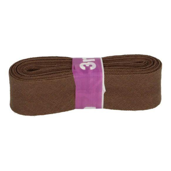 Baumwoll Einfassband - 12mm - braun - 3m