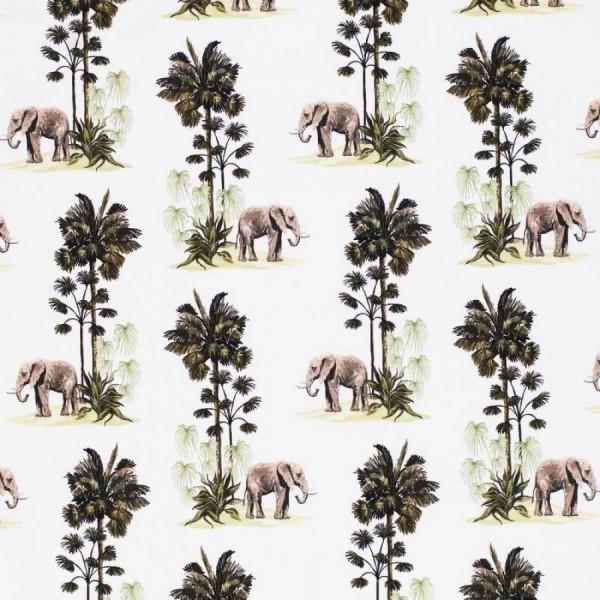Aquarell - Elefanten - BW-Jersey