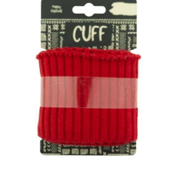 Cuff - Rippe - uni - rot