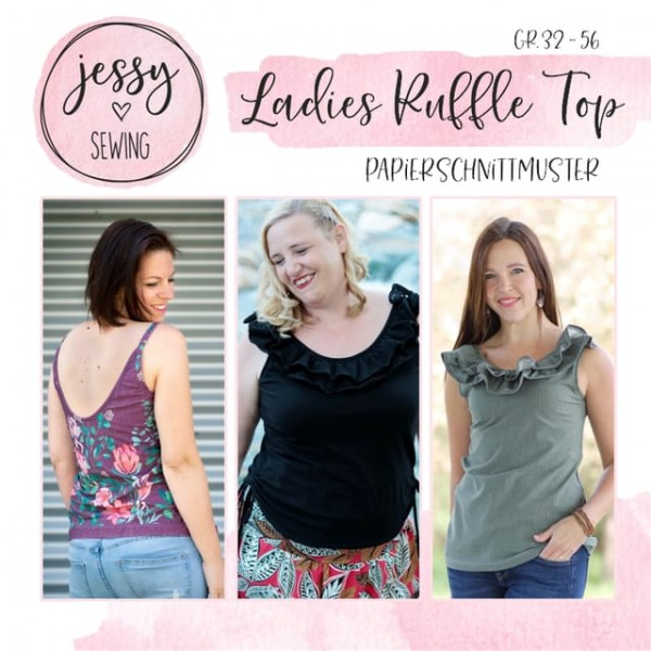 Papierschnittmuster - Jessy Sewing - Ladies Ruffle Top