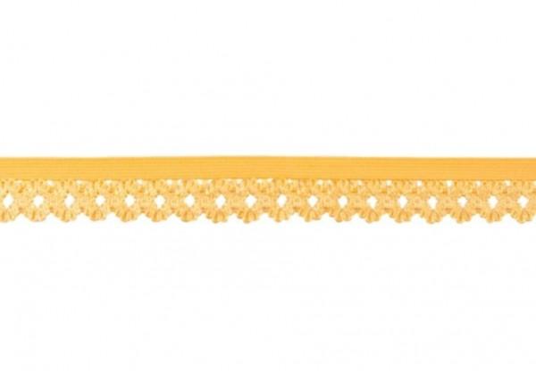 Elastische Spitze - 20mm - gelb -