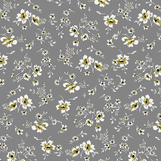 filigree flowers - grau - Tencel - Modal Jersey
