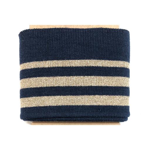 Cuff - Stripes Lurex - blau-gold