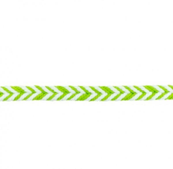 Baumwollkordel Fischgrät - lime - 10 mm -