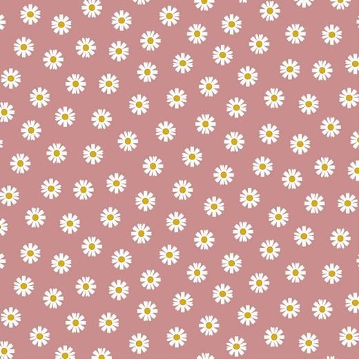 Daisy - Gänseblümchen - altrosa - Popeline