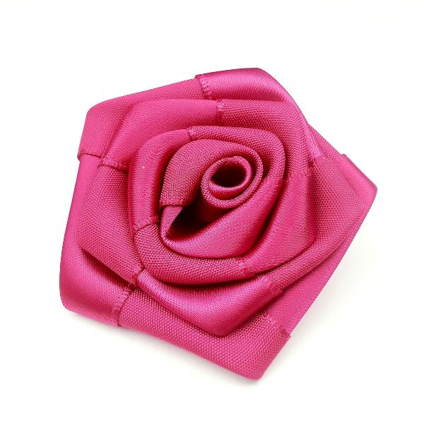 Satin-Rose- weinrot - 6 cm