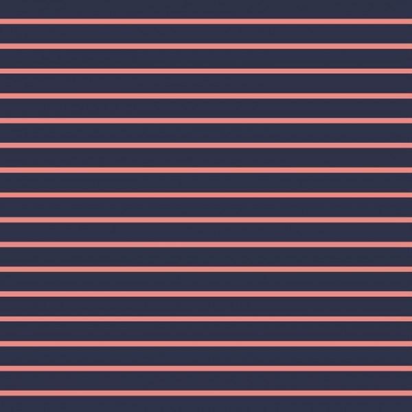 Stripes - blau/pink - Sommersweat -