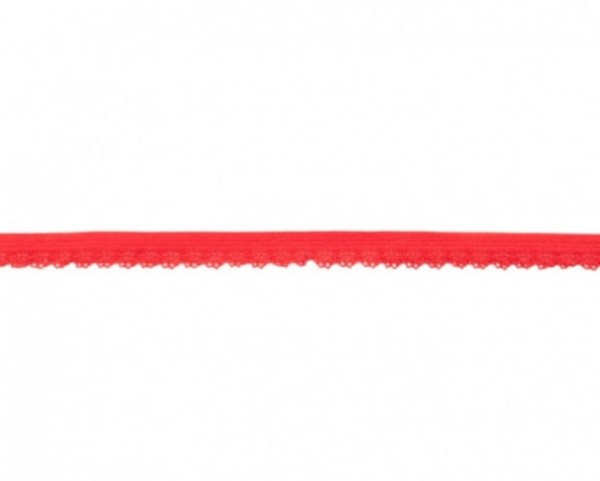 Elastische Spitze - 12mm - rot -