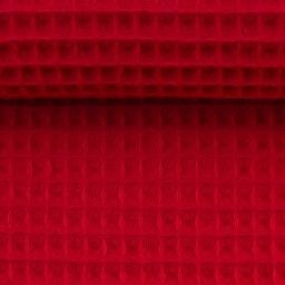 Waffel Piquet - rot