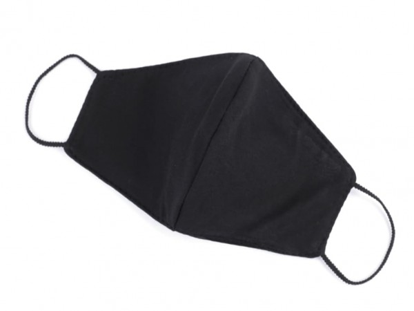 Behelfs-Mund-Nase-Maske - Baumwolle + Filter - uni - schwarz