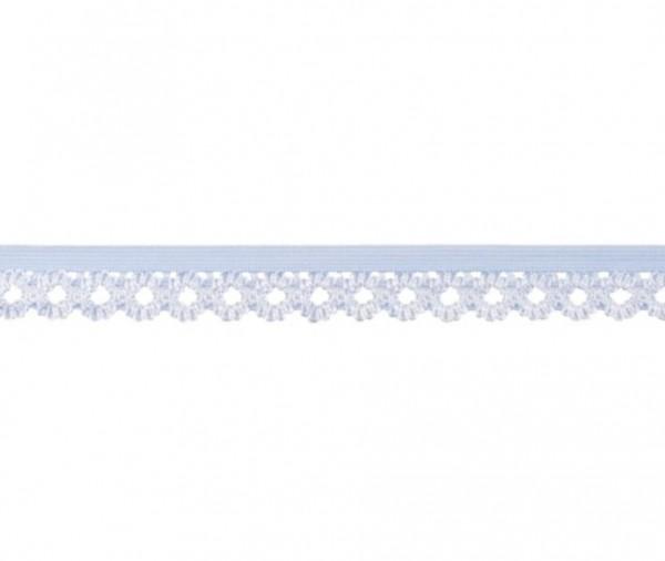 Elastische Spitze - 20mm - hellblau -