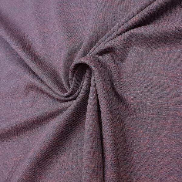 Baumwoll Jersey - meliert - braun/terracotta