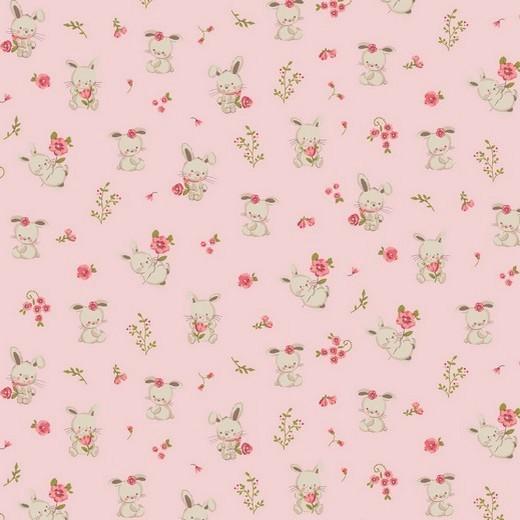 Sweet Bunny - hellrosa - Popeline GOTS