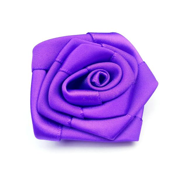 Satin-Rose- lila - 6 cm