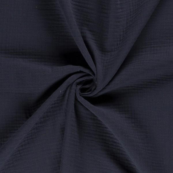 Baumwoll Musselin - triple Gauze - blau