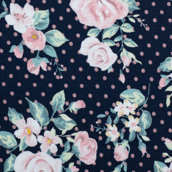 Swafing - Jesse - Roses with Dots - BW-Jersey