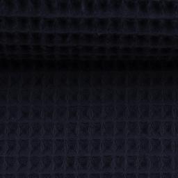 Waffel Piquet - marineblau