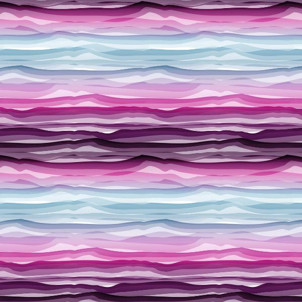 Swafing - Wavy Stripes - lila-weiß - Jersey Baumwolle