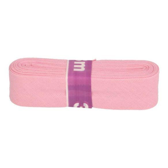 Baumwoll Einfassband - 12mm - rosa - 3m
