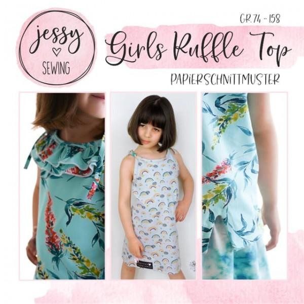 Papierschnittmuster - Jessy Sewing - Girls Ruffle Top