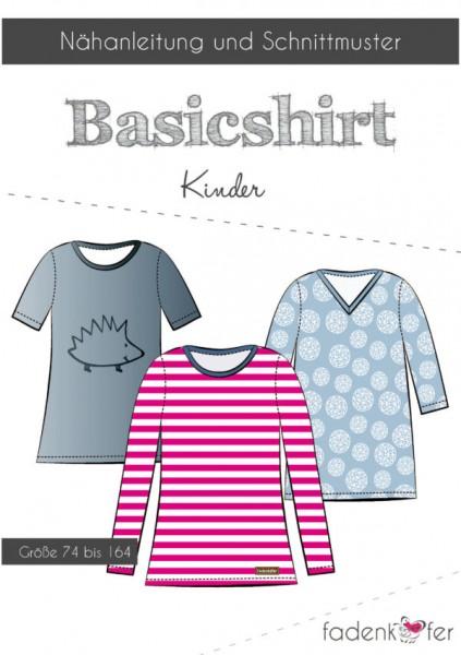 Papierschnittmuster - Basic-Shirt - Kinder