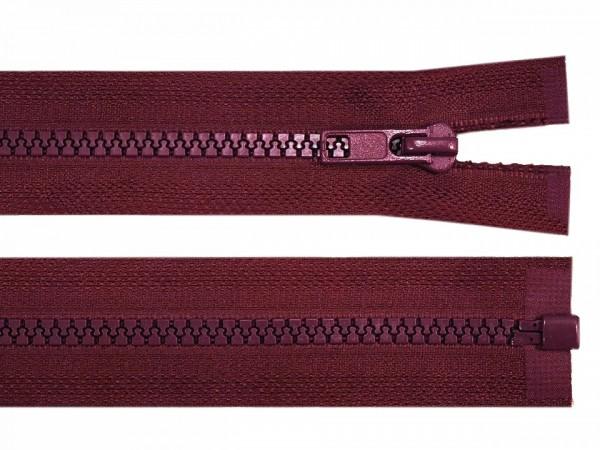 teilbarer Reißverschluss - bordeaux - 60 cm - 1 Stk
