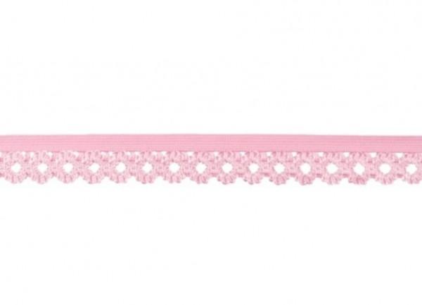 Elastische Spitze - 20mm - rosa -