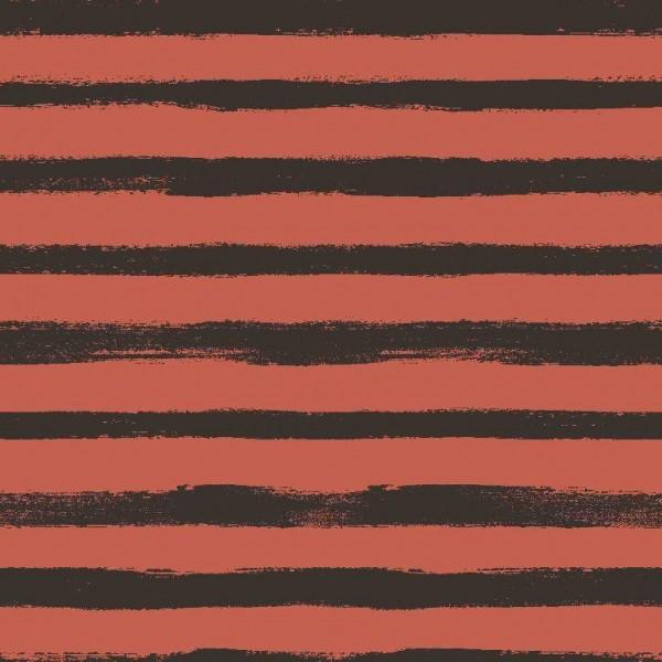 Groovy Stripes - gebrannte orange - French Terry