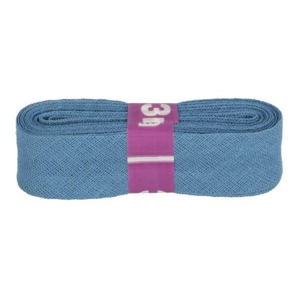 Baumwoll Einfassband - 12mm - stahlblau - 3m