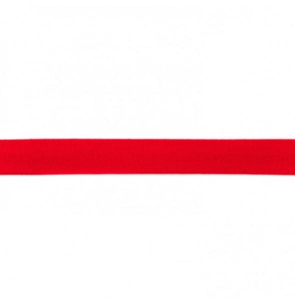 Baumwolljersey Einfassband - rot -