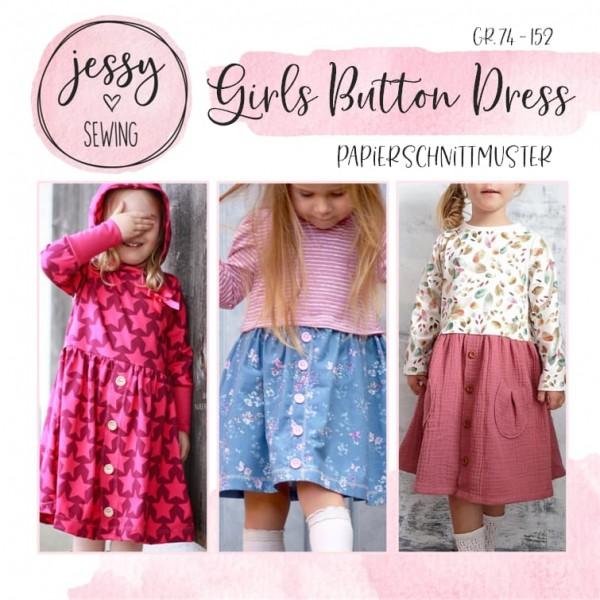 Papierschnittmuster - Jessy Sewing - Girls Button Dress