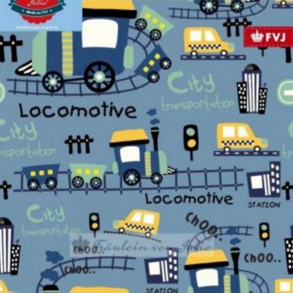 Fräulein von Julie - Locomotive - stahlblau - BW-Jersey