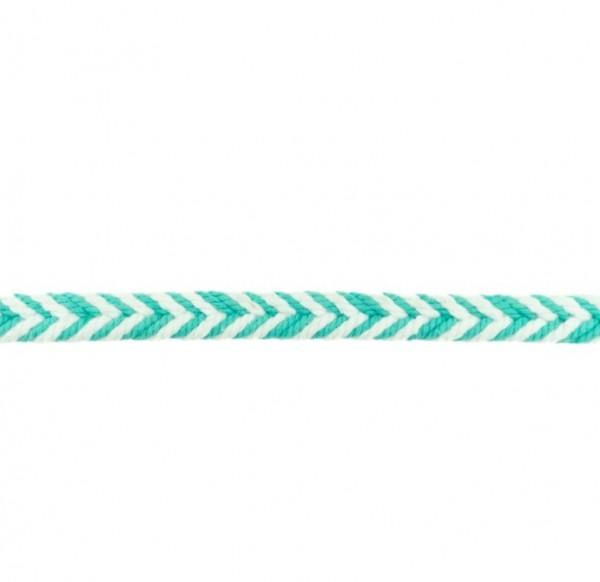 Baumwollkordel Fischgrät - mint - 10 mm -