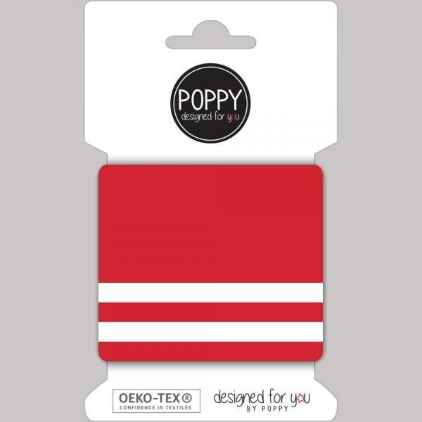 Cuff Stripes - Feinripp - rot