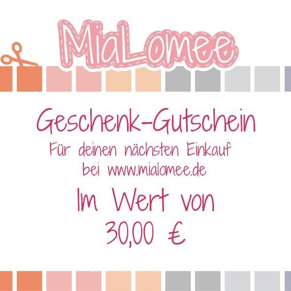 Geschenk-Gutschein - 30 Euro
