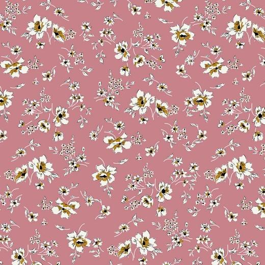 filigree flowers - rosa - Tencel - Modal Jersey