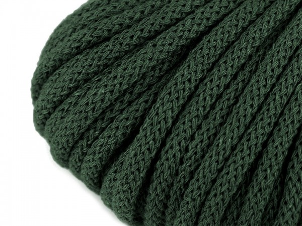 weiche Baumwollkordel - rund - waldgrün - 5 mm