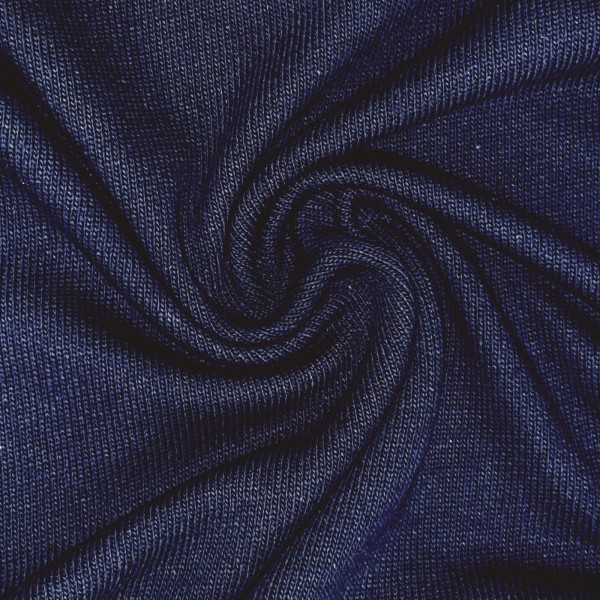 Baumwoll-Feinstrick - dunkelblau - 100% Baumwolle