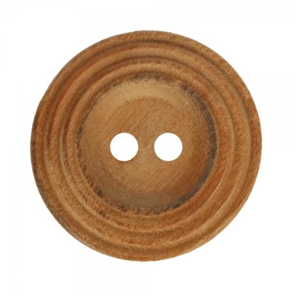 Holzknopf mit Rand - Größe 24 - 15mm
