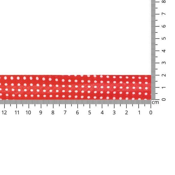 Baumwoll Einfassband - gepunktet - 20mm - rot
