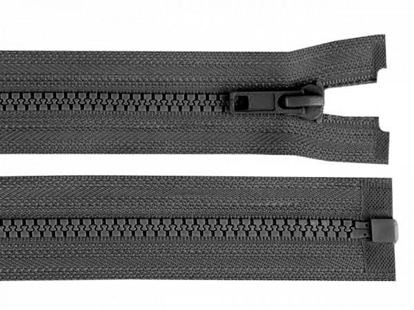 teilbarer Reißverschluss - stahlgrau - 60 cm - 1 Stk