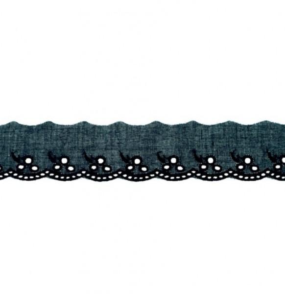 Wäschespitze - dunkel blau - 42 mm