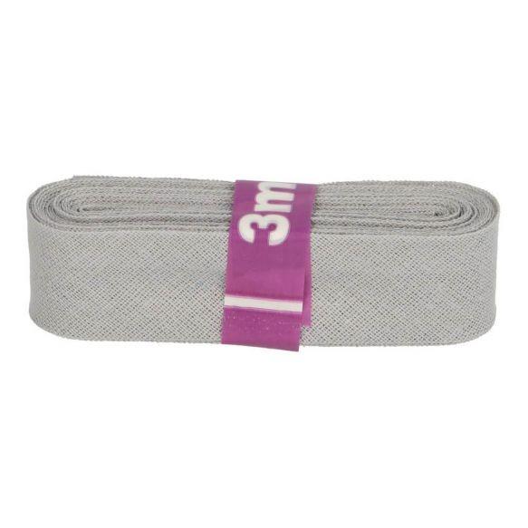 Baumwoll Einfassband - 12mm - hellgrau - 3m