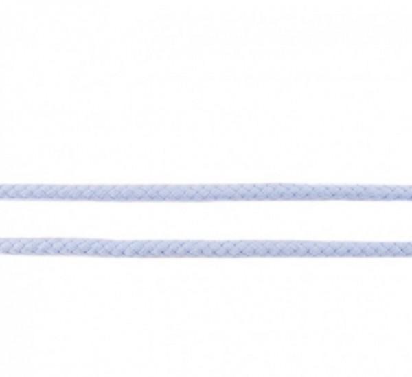 runde geflochtene Hoodiekordel - hell blau - 8mm -